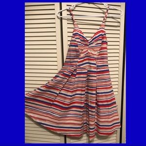 Candy striped sundress, size small